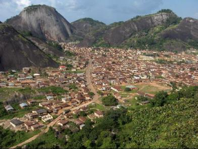 Idanre hills (Idanre town in the foreground)